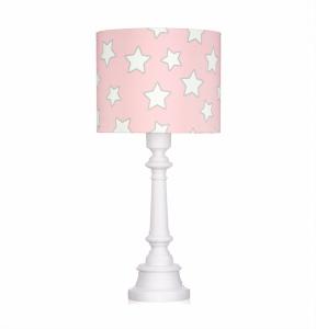 Lampa de noptiera pentru copii - Stelute roz