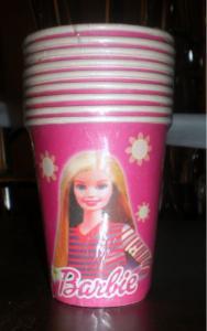 Pahare de unica folosinta barbie