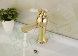 Baterie bronz BORNO Gold Luxury montare lavoar