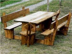 Mobilier pentru gradina - Set masa pentru 10 persoane