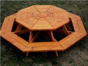 Mobilier pentru gradina - Masa octogonala pentru copii