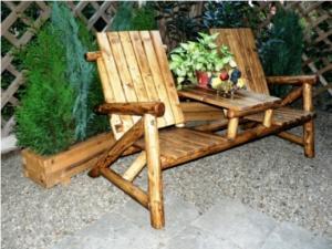 Scaun din lemn pentru terasa