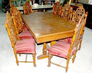 Masa cu scaune, Renastere Italiana