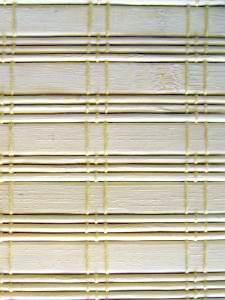 Decor bambus in rola - lamele fixate cu fir