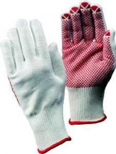 Manusi din material textil cu picouri poliester, alb, mar. 9, FORTIS