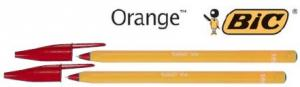 Pix BIC ORANGE ROSU, varf fin