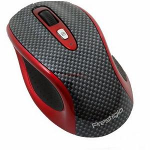 Mouse Wireless Bluetooth, Laser 1600dpi, 4btn, USB, Carbon/R
