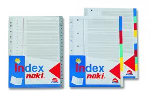 Index plastic color set 5