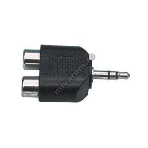 Adaptor jack 3,5mm la 2 RCA mama