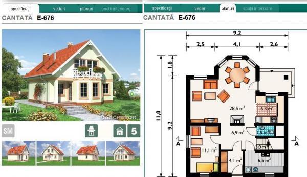 Planuri case archeton proiecte de arhitectura la cheie for Planuri de case