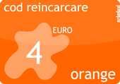 Cartela orange prepay 6 euro.