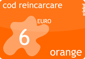 Cartela orange prepay 2 euro