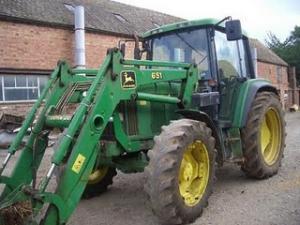 Tractor incarcator frontal John Deere 6400 100 Cp 1995 de vanzare second hand import stare buna pret bun