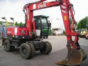 Excavator o&k mh city