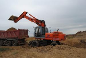 Excavator pe roti second hand