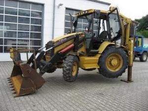 Buldoexcavator Caterpillar 438C Second Hand Ieftin 22.300 Euro de vanzare bulo excavatoare