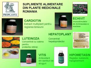 Suplimente alimentare din plante