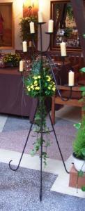 Suport flori din fier forjat