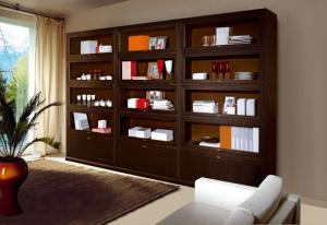 Biblioteca lemn masiv