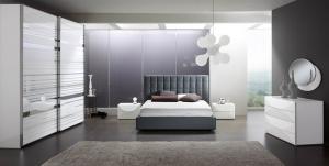 Dormitor alb/gri