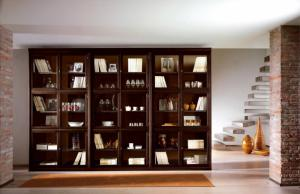Biblioteca din lemn masiv