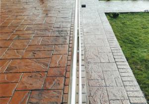 Lac beton amprentat