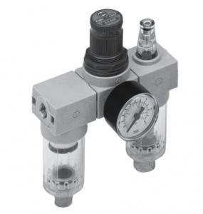 Grup filtru regulator lubriicator cu manometru