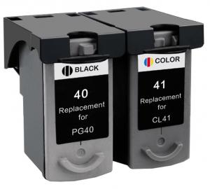 Set Cartuse Cerneala Compatibil Canon PG40 / CL41 - Black + Color