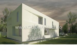 Proiecte case moderne casa dnp pipera voluntari cub arhitecture 168 cub architecture for Casa cub moderne