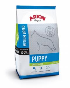 Arion Original Puppy Medium Breed cu Pui si Orez 3Kg