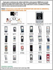 Program spion ce monitorizeaza mixt  telefoane mobile Nokia cu sistem de operare SYMBIAN