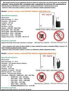 Izolator telefon mobil GDT007 BRUIAJ GSM MINI R10