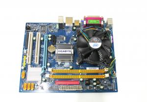 Kit placa de baza Gigabyte GA-945GCM-S2L, socket LGA775, Intel Pentrium Dual Core 2.0Ghz, Heatsink + Cooler, PS2 defect