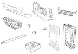 Dezmembrez imprimanta HP Laserjet 4L
