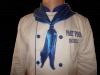 Costum de bucatar alb albastru
