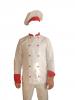 Costum de bucatar alb trei piese