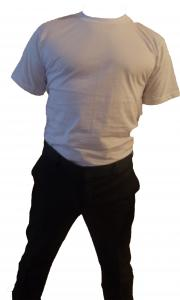 Tricou alb maneca scurta