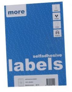 Etichete albe autoadezive 12/A4 More - 63.5x72 mm, colturi rotunde (100 coli/cut)