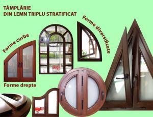 Tamplarie lemn cu geam sticla