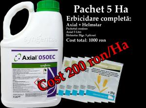 Pachet 5 Hectare Erbicidare completa Axial + Helmstar