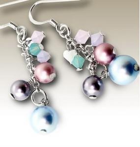 Cercei argint cristale mici swarovski