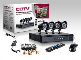 Sistem de supraveghere video 4 camere pentru interior exterior