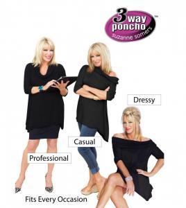 Poncho Carresse bluza cu 3 moduri de purtat