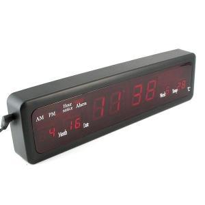 Ceas LED digital cu afisare data si temperatura