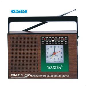 Radio AM/FM/SW cu 5 benzi si ceas Waxiba XB-781C