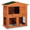 Cusca din lemn etajata pentru iepuri