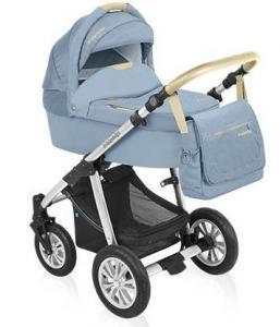 Carucior 2 in 1 Dotty Denim - Baby Design