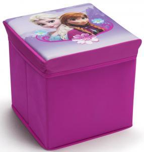 Taburet si cutie depozitare jucarii Disney Frozen Delta Children