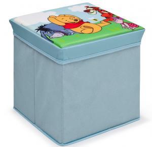Taburet si cutie depozitare jucarii Disney Winnie the Pooh Delta Children