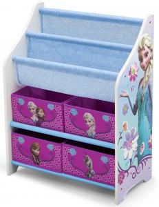 Organizator carti si jucarii cu cadru din lemn Disney Frozen Delta Children